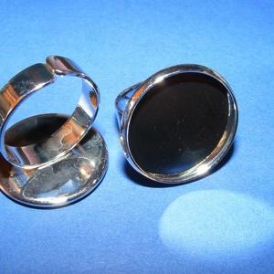 Gyűrű alap (63/P minta/1 db) - platinum (csimbo) - Meska.hu