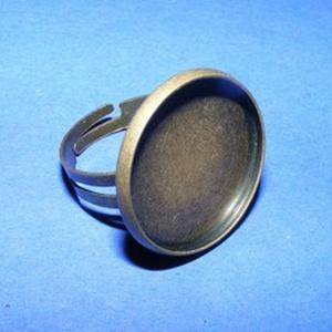 Gyűrű alap (60. minta/1 db), Gyöngy, ékszerkellék,  Gyűrű alap (60. minta) - ragasztható - antik bronz színben  A tárcsa átmérője: 23 mm A tárcsába 20..., Meska