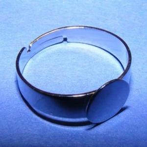 Gyűrű alap (29/A minta/1 db) - platinum (csimbo) - Meska.hu
