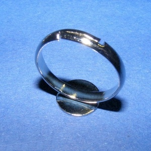 Gyűrű alap (28. minta/1 db) - nikkel (csimbo) - Meska.hu