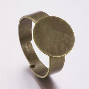 Gyűrű alap (38. minta/1 db) - antik bronz, Gyöngy, ékszerkellék,  Gyűrű alap (38. minta) - ragasztható - antik bronz színben  A karika átmérő: 18mmA tárcsa átmérője:..., Meska