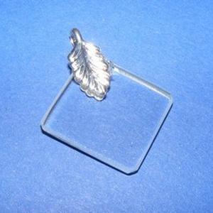 Üvegmedál-1 (20x20 mm/1 db) - négyzet (csimbo) - Meska.hu