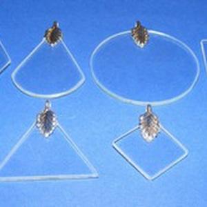 Üvegmedál-3 (30x20 mm/1 db) - téglalap (csimbo) - Meska.hu