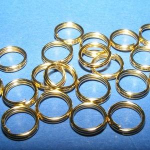 Szerelőkarika (1006/D minta/20 db) - 10 mm, Gyöngy, ékszerkellék, Ékszerkészítés, \nSzerelőkarika (1006/D minta) - dupla - arany színben\n\nMérete: 10 mm\n\nAz ár 20 db termékre vonatkozi..., Meska