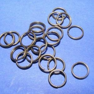 Szerelőkarika (1017/B minta/20 db) - 5 mm, Gyöngy, ékszerkellék,  Szerelőkarika (1017/B minta) - dupla - bronz színben  Mérete: 5 mm  Az ár 20 db termékre vonatkozik..., Meska