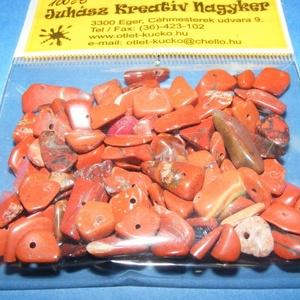Ásványgyöngy-37 (100 db) - vörös jáspis (csimbo) - Meska.hu