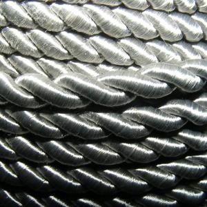 Sodrott zsinór - 5 mm (ZS88S/1 m) - ezüstszürke (csimbo) - Meska.hu