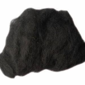 Festett gyapjú (50 g) - fekete (csimbo) - Meska.hu