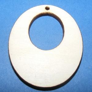 Fa fülbevaló alap (6. minta/1 db), Gyöngy, ékszerkellék,   Fa fülbevaló alap (6. minta) - oválban ovál  Mérete: 3,3x5 cmAnyaga: rétegelt lemezAnyagvastagság:..., Meska