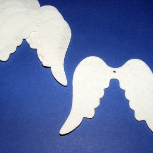 Filc angyalszárny (1 db) - fehér (csimbo) - Meska.hu