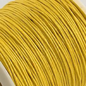 Viaszos pamutzsinór - 1 mm (3. minta/1 m) - citromsárga - Meska.hu