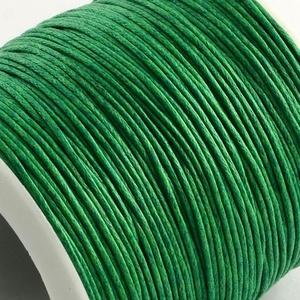 Viaszos pamutzsinór - 1 mm (4. minta/1 m) - zöld, Gyöngy, ékszerkellék, Ékszerkészítés, \nViaszos pamutzsinór (4. minta) - zöld\n\nNyakbavaló alap, karkötő alap alapanyaga. Fonáshoz, de bármi..., Meska