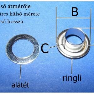 Fém ringli (Ø 12 mm/1 pár) - platinum (csimbo) - Meska.hu