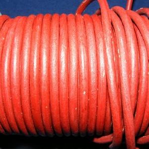 Hasított póráz bőrszíj - 5 mm (3. minta/1 m) - vöröses barna, Egyéb alapanyag, Vegyes alapanyag, Bőrművesség, \nHasított póráz bőrszíj (3. minta) - vöröses barnaMérete: 5 mm átmérőjűValódi hasított marhabőrből k..., Meska