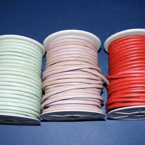 Hasított póráz bőrszíj - 5 mm (3. minta/1 m) - vöröses barna - Meska.hu