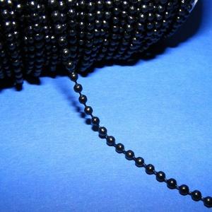 Golyós lánc - 2 mm (festett/1 m) - fekete (csimbo) - Meska.hu