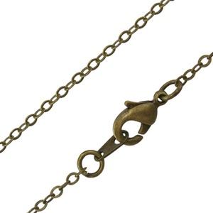Szerelt lánc (4. minta/1 db) -  1,5x2 mm x 66 cm, Gyöngy, ékszerkellék, Ékszerkészítés, \nSzerelt lánc (4. minta) - bronz színben\n\nA szem mérete: 1,5x2 mmA lánc hossza: 66 cm\n\nA feltüntetet..., Meska