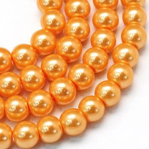 Viaszgyöngy-4 (Ø 4 mm/~ 230 db) - világos narancssárga (csimbo) - Meska.hu