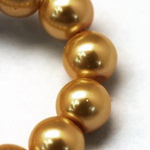 Viaszgyöngy-40 (Ø 10 mm/~ 40 db) - arany (csimbo) - Meska.hu