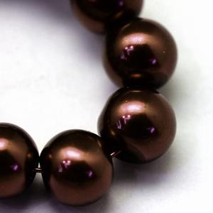 Viaszgyöngy-45 (Ø 12 mm/~ 30 db) - csokoládébarna (csimbo) - Meska.hu