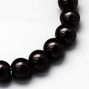 Viaszgyöngy-46 (Ø 12 mm/~ 30 db) - fekete - Meska.hu
