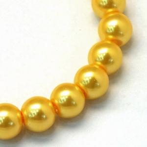 Viaszgyöngy-7 (Ø 14 mm/15 db) - aranysárga (csimbo) - Meska.hu