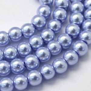 Viaszgyöngy-22 (Ø 3 mm/~ 250 db) - világos liláskék (csimbo) - Meska.hu