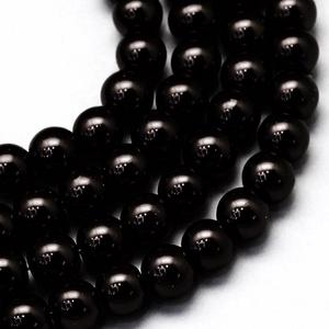 Viaszgyöngy-46 (Ø 3 mm/~ 250 db) - fekete (csimbo) - Meska.hu