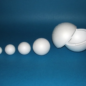 Hungarocell gömb (Ø 9 cm/1 db) - egyrészes, Hungarocell, Díszíthető tárgyak, Mindenmás, \nHungarocell gömb - egyrészes\n\nMérete: Ø 9 cm\nTöbbféle méretben és formában.Az ár egy darab termékre..., Meska