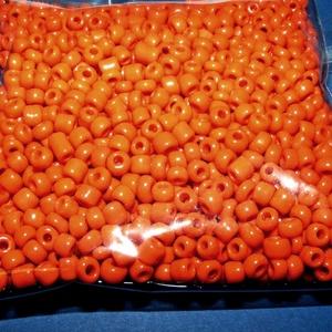 Kásagyöngy-41 (2 mm/100 g) - fényes élénk narancssárga (csimbo) - Meska.hu