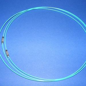 Sodrony nyaklánc alap (15. minta/1 db) - világoskék (csimbo) - Meska.hu
