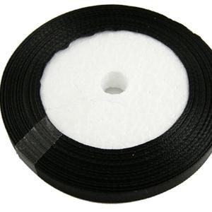 Szaténszalag (117. minta/1 m) - fekete (csimbo) - Meska.hu
