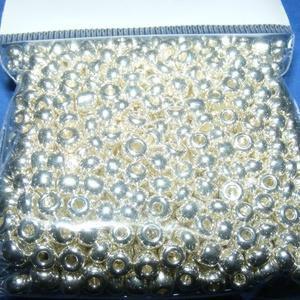 Kásagyöngy-4/A (2 mm/100 g) - metál ezüst (csimbo) - Meska.hu