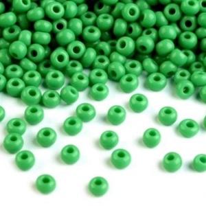 Kásagyöngy-105 (4 mm/100 g) - fényes borsózöld, Gyöngy, ékszerkellék, Gyöngy, \nKásagyöngy-105 - fényes - borsózöld - távol-keleti gyöngy\n\nAnyaga: üvegMérete: 4 mm\n\nKiszerelés: 10..., Meska