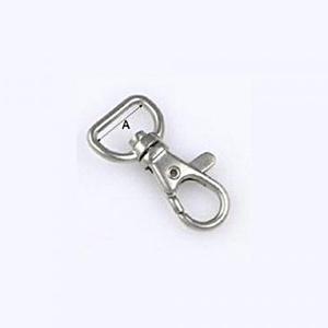 Karabiner (466/15 mm /1 db) - 15 mm, Csat, karika, zár, Mindenmás,    Karabiner (466/15 mm ) - nikkel színben  Alkalmas kulcstartó, póráz stb. készítéséhez. Hossza: 3..., Alkotók boltja