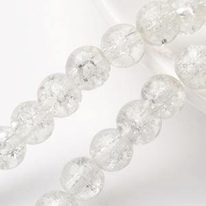 Robbantott üveggyöngy-5 (6 mm/1 csomag) - átlátszó, Gyöngy, ékszerkellék, Gyöngy,  Robbantott üveggyöngy-5 - átlátszó  Mérete: 6 mmFurat: 1,3-1,6 mm    A csomag tartalma: kb. 130 ..., Alkotók boltja