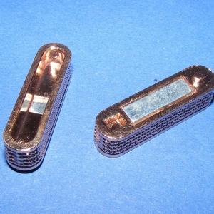 Mágnes kapocs (345/R minta/1 db) - arany/réz - Meska.hu