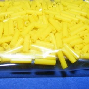 Szalmagyöngy-28 (2x6 mm/15 g) - matt sárga, Gyöngy, ékszerkellék,  Szalmagyöngy-28 - fényes felületű, matt színű - sárga - távol-keleti szalmagyöngy  Anyaga: üvegMére..., Meska