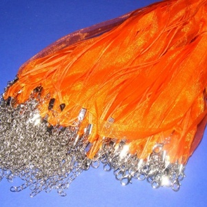 Organza nyaklánc alap (14. minta/1 db) - narancssárga (csimbo) - Meska.hu