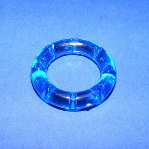 Szélcsengő tartozék (1 db) - akril elosztó gyűrű - halvány rózsaszín - vegyes alapanyag - Meska.hu