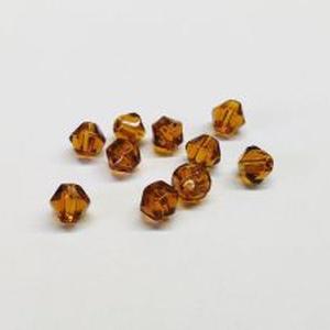 Csiszolt üveggyöngy-35 (4x4 mm/20 db) - barna gyémánt (csimbo) - Meska.hu