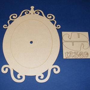 Fa óralap (18x25 cm/1 db) - ovális (csimbo) - Meska.hu