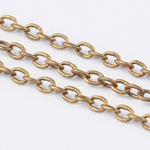 Bronz színű lánc (30/A minta/1 m) - 1x1,5x0,5 mm, Gyöngy, ékszerkellék,  Bronz színű lánc (30/A minta)  A szem mérete: 1x1,5x0,5 mm A feltüntetett ár 1 méter láncra vonatk..., Meska