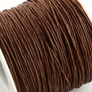 Viaszos pamutzsinór - 1 mm (10. minta/1 m) - középbarna (csimbo) - Meska.hu