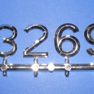 Arab számsor (113. minta/ezüst) - 30 mm, Számok, betűk, Órakészítés, Mindenmás, \n\nSzámsor (113. minta) - ezüst - arab számokkal\n\r\n\r\n\nAz időpont jelzése 12, 3, 6, 9 számokkal, az eg..., Meska