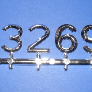 Arab számsor (113. minta/ezüst) - 30 mm - Meska.hu