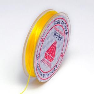 Gumis damil (Ø 0,6 mm/~ 10 m) - sárga, Gyöngy, ékszerkellék,  Gumis damil - sárgaKiváló minőségű, rugalmas, fűzésre alkalmas damil.Mérete: Ø 0,6 mmA tekercsen kb..., Meska