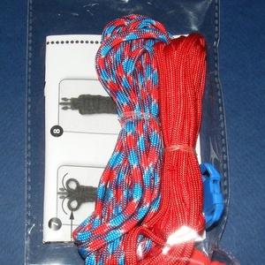 Paracord karkötő alap-3 (2 szín+2 kapocs), Gyöngy, ékszerkellék,  Paracord karkötő alap-3  A csomag tartalma: 2 db paracord színes zsinór (a képen látható  színössz..., Meska
