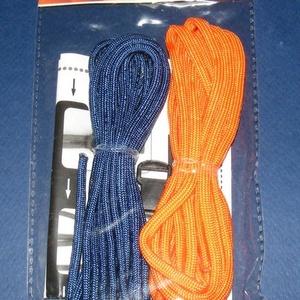 Paracord karkötő alap-6 (2 szín+2 kapocs), Gyöngy, ékszerkellék,  Paracord karkötő alap-6  A csomag tartalma: 2 db paracord színes zsinór (a képen látható  színössz..., Meska