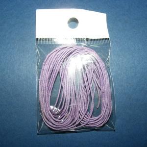 Viaszos szál-10 (5 db/csomag) - lila, Gyöngy, ékszerkellék,  Viaszos szál-10 - lila  Színes, viaszos zsinór Mérete (1 db): 1 mm vastag/80 cm hosszú  Nyakbavaló..., Meska